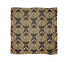 Golden Scarab Abstract Pattern in gold, black and sky blue Scarf