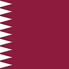 Qatar Flag Stickers by Mark Podger