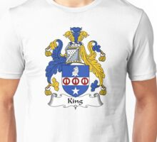King Coat of Arms / King Family Crest Unisex T-Shirt