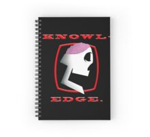 Knowl-edge. (Red) Spiral Notebook