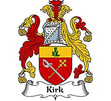 Kirk Coat of Arms / Kirk Family Crest Photographic Print