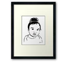 Adorable Mia Framed Print