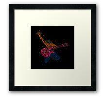 Guitarist illustration. Framed Print
