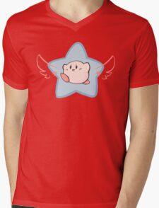 Super Star Kirby Mens V-Neck T-Shirt