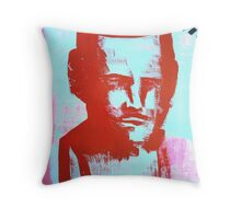 red bust Throw Pillow