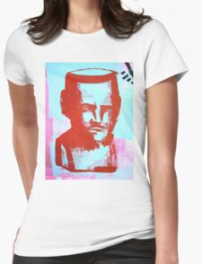 red bust Womens Fitted T-Shirt