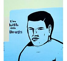 high on drugs Photographic Print