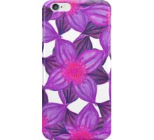 Pretty Lavender Purple Watercolor Flowers Pattern iPhone Case/Skin