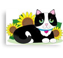 Tuxedo Cat Canvas Print