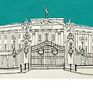 Buckingham Palace ( Teal ) by Adam Regester