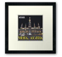 Vienna Rathaus Vintage Travel Poster Framed Print