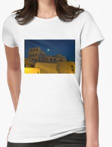 Magical Rome, Italy - Yellow Facades and Moonlight Womens Fitted T-Shirt