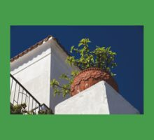 Contemplating Mediterranean Vacations - Red Tile Roofs and Terracotta Flowerpots One Piece - Short Sleeve