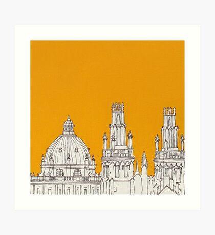Oxford Rooftops Art Print