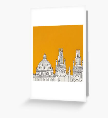 Oxford Rooftops Greeting Card