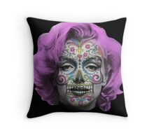 Marilyn Sugarskull Throw Pillow