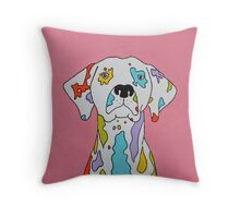 Coloured Dalmatian  Throw Pillow