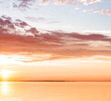Pink and Gold Morning Zen - Toronto Skyline Impressions Sticker