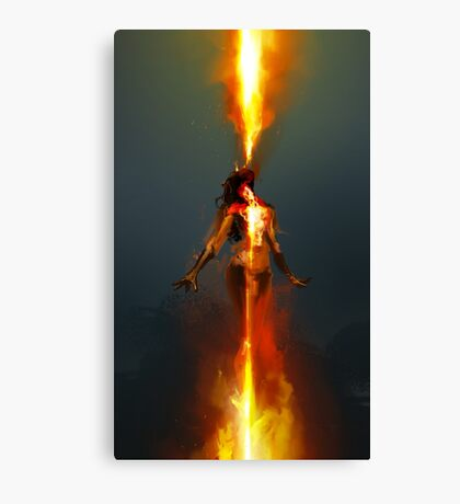 Feeding the Fire Canvas Print