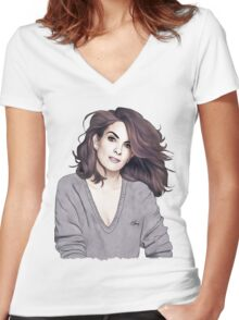 Tina Fey Women's Fitted V-Neck T-Shirt