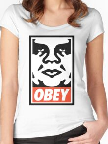 Obey Design, High Quality  Women's Fitted Scoop T-Shirt