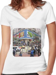 Causeway Bay  Women's Fitted V-Neck T-Shirt