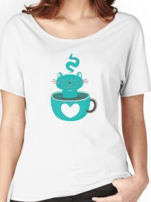Cat in a Cup Women's Relaxed Fit T-Shirt
