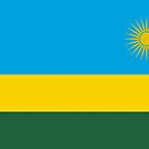 Rwanda Flag Stickers by Mark Podger