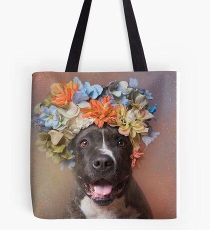 Flower Power, Angel smiling Tote Bag