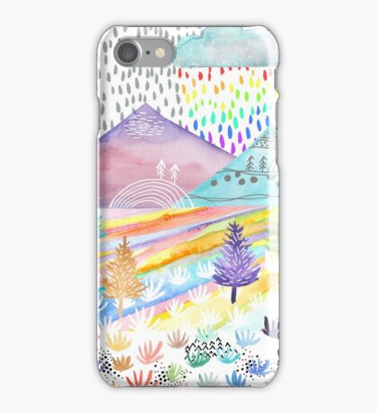 Watercolour Landscape iPhone Case/Skin