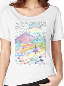 Watercolour Landscape Women's Relaxed Fit T-Shirt