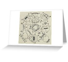 Baby Monsters Greeting Card