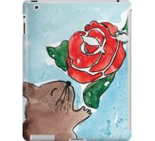 Hamster's rose iPad Case/Skin