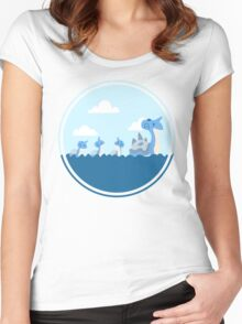 Lapras and kids Women's Fitted Scoop T-Shirt