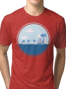 Lapras and kids Tri-blend T-Shirt