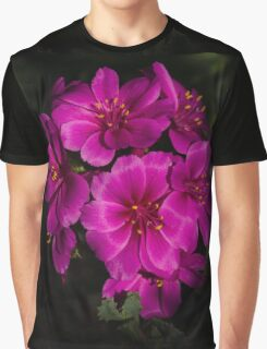 Shocking Pink and Fuchsia - a Vivid Succulent Bouquet Graphic T-Shirt
