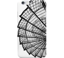 Spiral staircase structure in black and white. iPhone Case/Skin