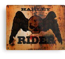 Rusty Harley Davidson Metal Print