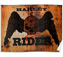 Rusty Harley Davidson Poster
