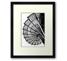 Spiral staircase structure in black and white. Framed Print