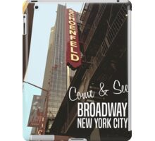 Broadway New York Vintage Poster iPad Case/Skin