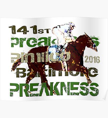 141st Preakness Triple Crown  Horse Racing Poster