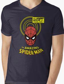 Retro Spiderman Spider Senses Spidey Shirt Mens V-Neck T-Shirt