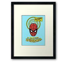 Retro Spiderman Spider Senses Spidey Shirt Framed Print