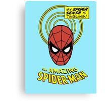 Retro Spiderman Spider Senses Spidey Shirt Canvas Print