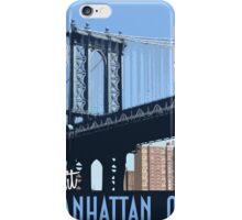Vintage Travel Poster Manhattan, Nyc  iPhone Case/Skin
