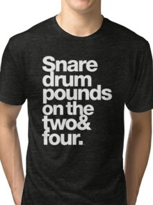 Prince - Snare Drums Pound on the Two & Four Tri-blend T-Shirt