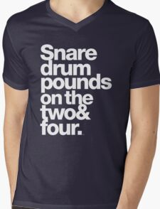 Prince - Snare Drums Pound on the Two & Four Mens V-Neck T-Shirt