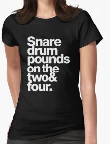 Prince - Snare Drums Pound on the Two & Four Womens Fitted T-Shirt