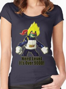 Nerd Level: its over 9000 Women's Fitted Scoop T-Shirt